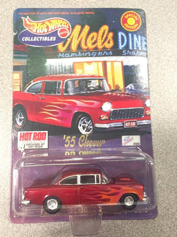 Hot Wheels '55 Chevy Limited Edition 4 Decades of Hot Rods Car Art Series