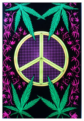 Felt black Light Poster - 19xx - Peace