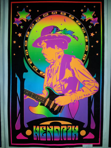 "Felt Black Light Poster - ""Jimi Hendrix"""