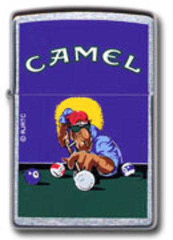 Zippo Lighter - Tobacco - Joe Camel Pool Player