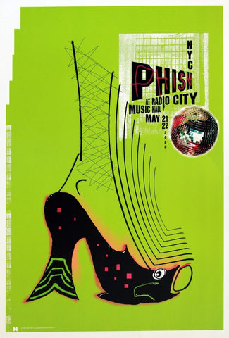 Jager DiPaola Kemp - 2000 - Phish Radio City Music Hall Concert Poster
