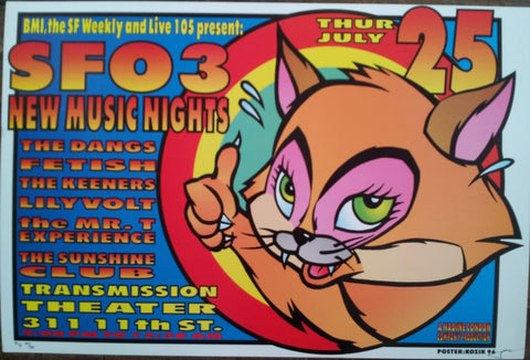 Frank Kozik - KZ96XX -SFO 3 San Francisco '96 (AP Signed/Numbered)