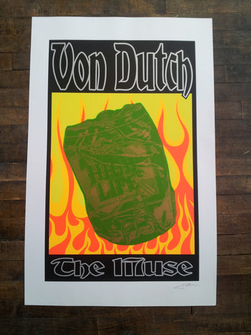 Frank Kozik - 1996 - Von Dutch Poster (Signed)