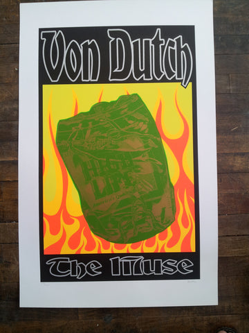 Frank Kozik - 1996 - Von Dutch Poster (Signed/Numbered)
