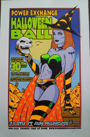 Frank Kozik - 1999 - Power Exchange Halloween Ball Poster