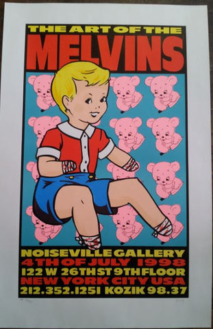 Frank Kozik - 1998 - Art of the Melvins Poster
