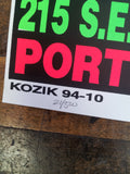 Frank Kozik - KZ9410 - Lydia Lunch Portland / Seattle '94 (Signed/Numbered)