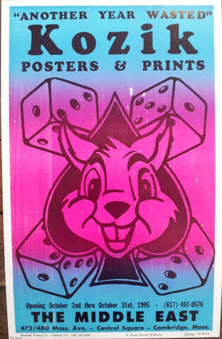 Frank Kozik -1995 - Another Year Wasted Poster