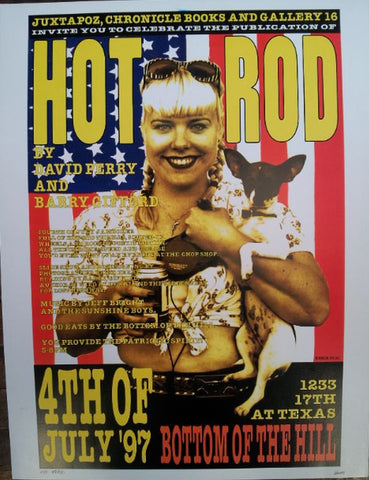 Frank Kozik - 1997 - Hot Rod Book Release Poster