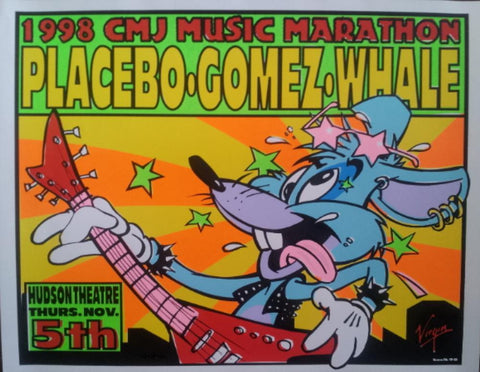 Frank Kozik - 1998 - CMJ Showcase New York City Poster