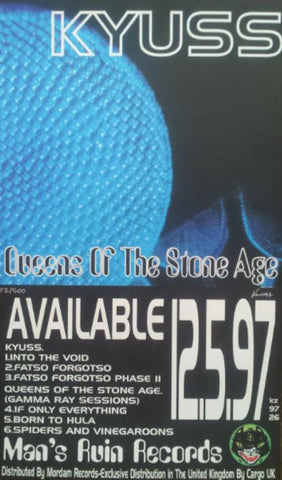 Frank Kozik - 1997 - Kyuss and Queens of the Stone Age EP Promo Poster