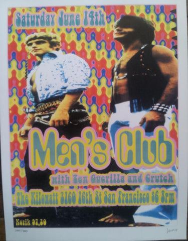 Frank Kozik - 1997 - The Men's Club Concert Poster