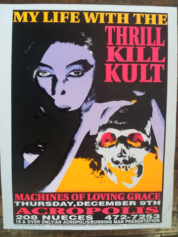 Frank Kozik -1993 - My Life With the Thrill Kill Kult Concert Poster