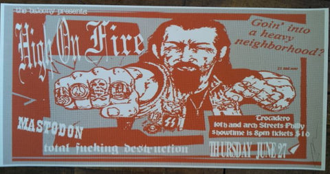 Frank Kozik - 2002 - High on Fire Philadelphia Concert Poster