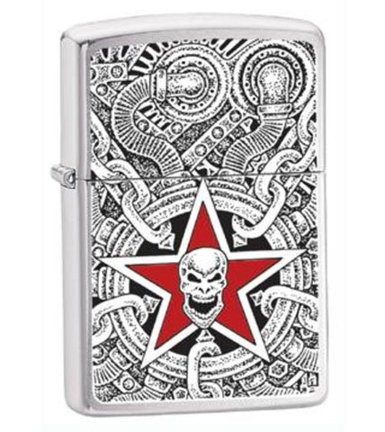 Zippo Lighter - Other - Urban Style Skull Industrial