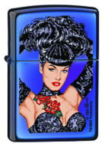 Zippo Lighter - Pinup - Olivia Betty Page Rose Tattoo