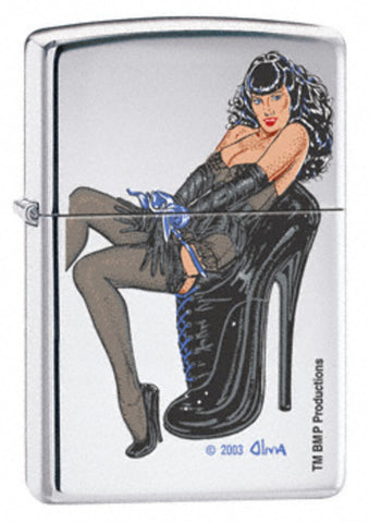 Zippo Lighter - Pinup - Olivia Betty Page Bondage
