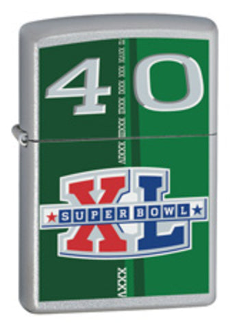 Zippo Lighter - Sports - Super Bowl 40th NFL