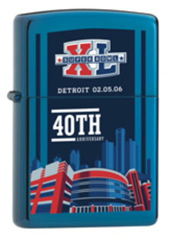 Zippo Lighter - Sports - Super Bowl 40th Ltd. Edition NFL