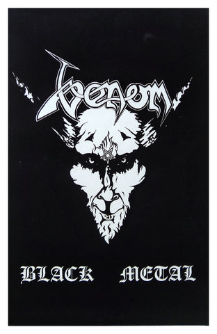 Felt Black Light Poster - 1996 - Venom