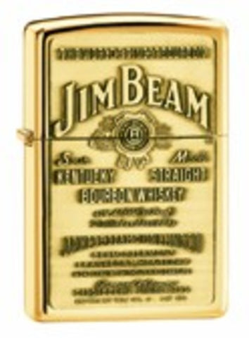 Zippo Lighter - Alcohol - Jim Beam Brass Emblem