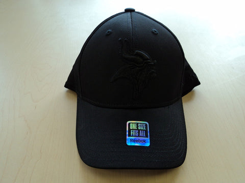 Minnesota Vikings Hat Solid Black