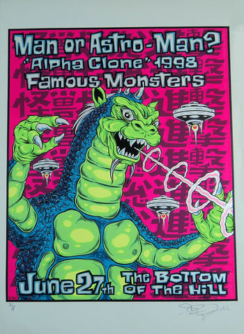 Alan Forbes - 1998 - Man or Astro-Man? Concert Poster