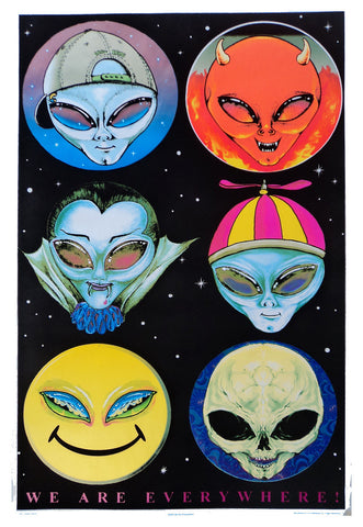 Felt Black Light Poster - 1997 - We Are Everywhere