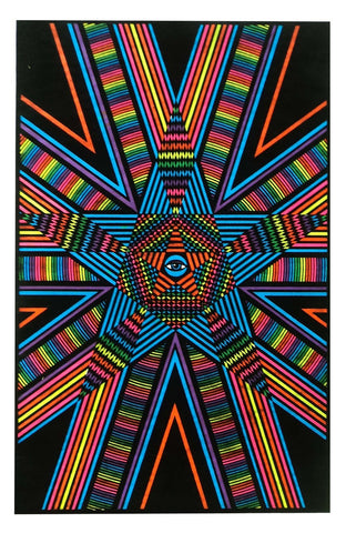 Felt Black Light Poster - 1994 - Star Gaze