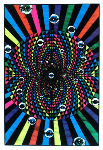 Felt Black Light Poster - 1994 - Opeye