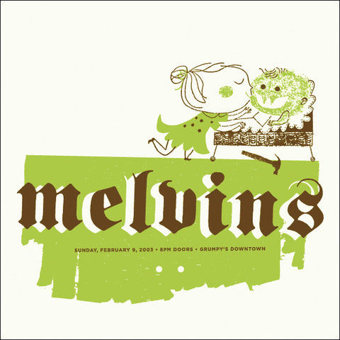 Aesthetic Apparatus - 2003 - Melvins Concert Poster