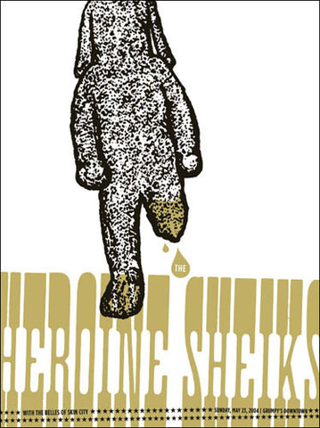 Aesthetic Apparatus - 2004 - Heroine Sheiks Concert Poster
