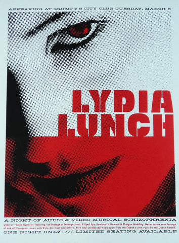 Aesthetic Apparatus - 2002 - Lydia Lunch Concert Poster