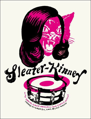 Aesthetic Apparatus - 2002 - Sleater Kinney Concert Poster