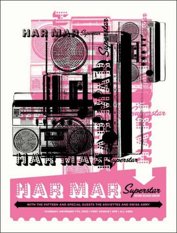 Aesthetic Apparatus - 2002 - Har Mar Superstar Concert Poster