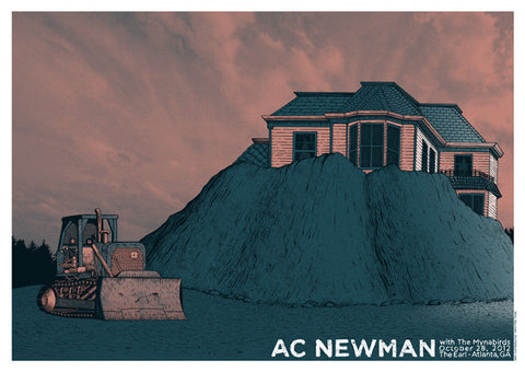 Neal Williams - 2012 AC Newman - Atlanta Concert Poster