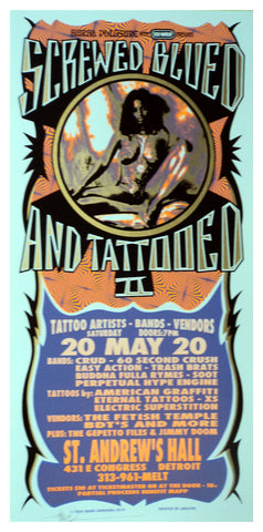 Mark Arminski - 2000 - Screwed Blued and Tattooed Concert Poster