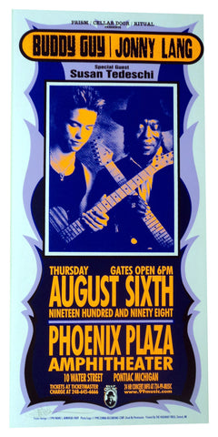 Mark Arminski - 1998 - Buddy Guy/Lang Concert Poster