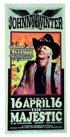 Mark Arminski - 1999 - Johnny Winter Concert Poster
