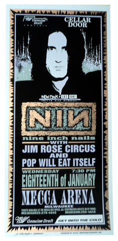 Mark Arminski - 1995 - Nine Inch Nails Concert Poster