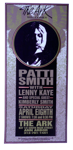 Mark Arminski - 1995 - Patti Smith Concert Poster