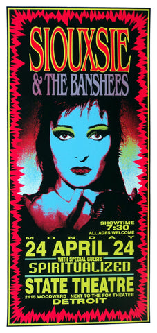 Mark Arminski - 1995 - Siouxsie and the Banshees Concert Poster
