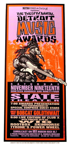Mark Arminski - 1994 - Detroit Music Awards Concert Poster