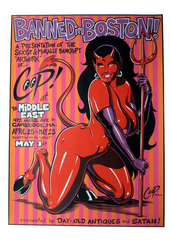 Coop - 1998 -  Banned In Boston Art Show Poster
