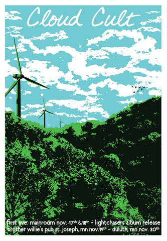 MC - 2011 - Cloud Cult Fall Tour I Concert Poster