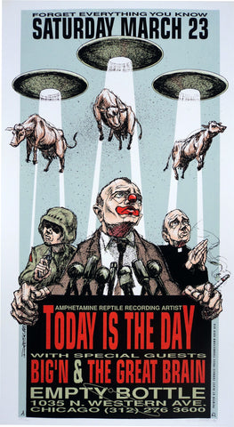 Derek Hess - Today is the Day Poster