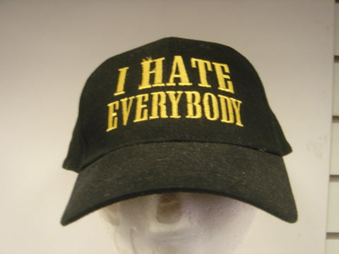 I Hate Everybody Embroidered Hat