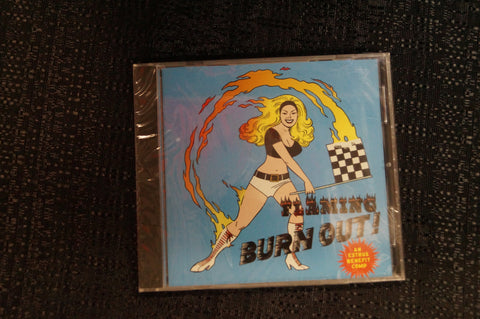 "Flaming Burnout ""Estrus Benefit Compilation"" 1997 CD Art By Kozik"