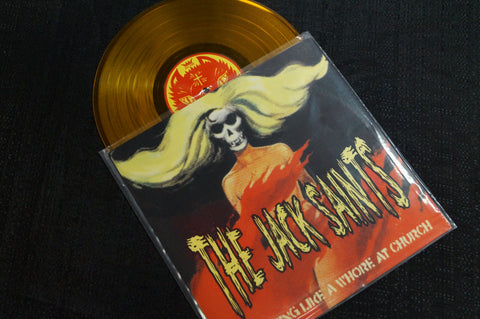 The Idiots/The Jack Saints split album 1998 Colored Vinyl Art By Kozik