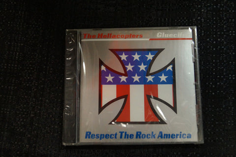 The Hellacopters/Gluecifer Split Release 1999 CD Art By Kozik